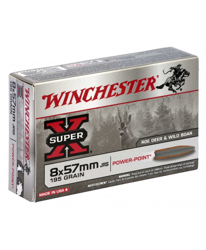 Win Mun 8X57JRS 195GR. Power Point