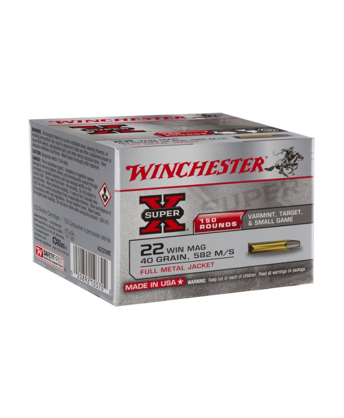 Win Mun 22 WM SUPER-X,40gr,FMJ 150/1500