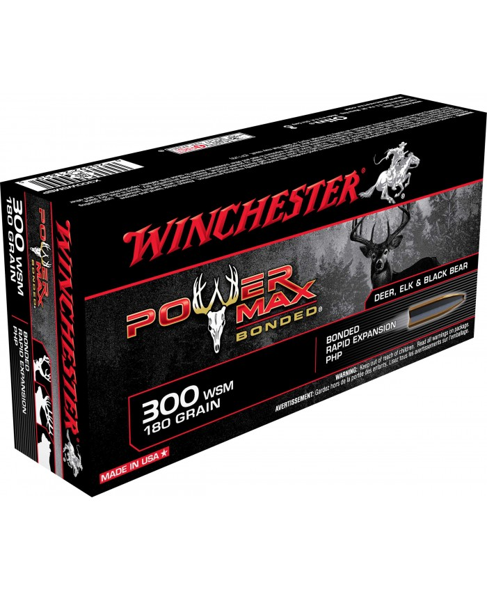 Win Mun 300 WSM 180GR. Power Max
